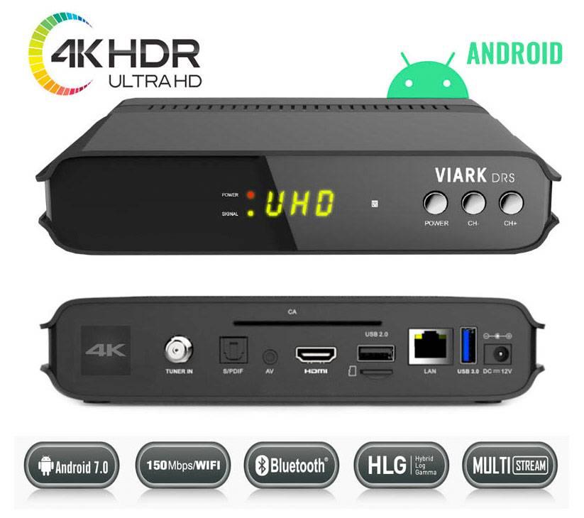 Receptor satélite Viark DRS 4K Android